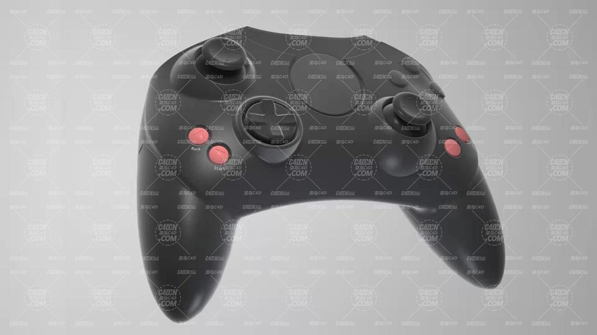 xbox 游戏机手柄C4D模型