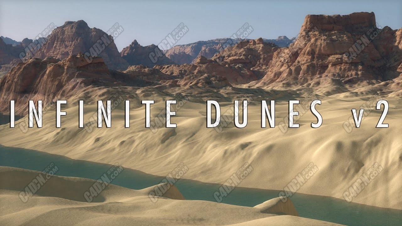 C4D预设 沙漠环境预设生成包 Infinite Dunes for Cinema 4D