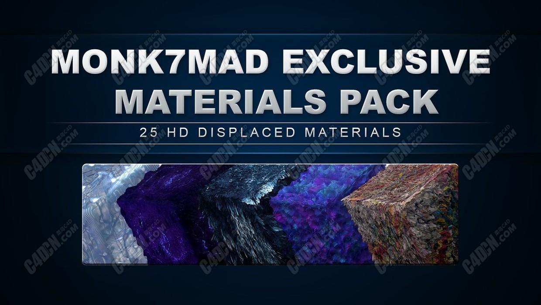 C4D材質預設包 Monk7Mad Cinema 4D Materials