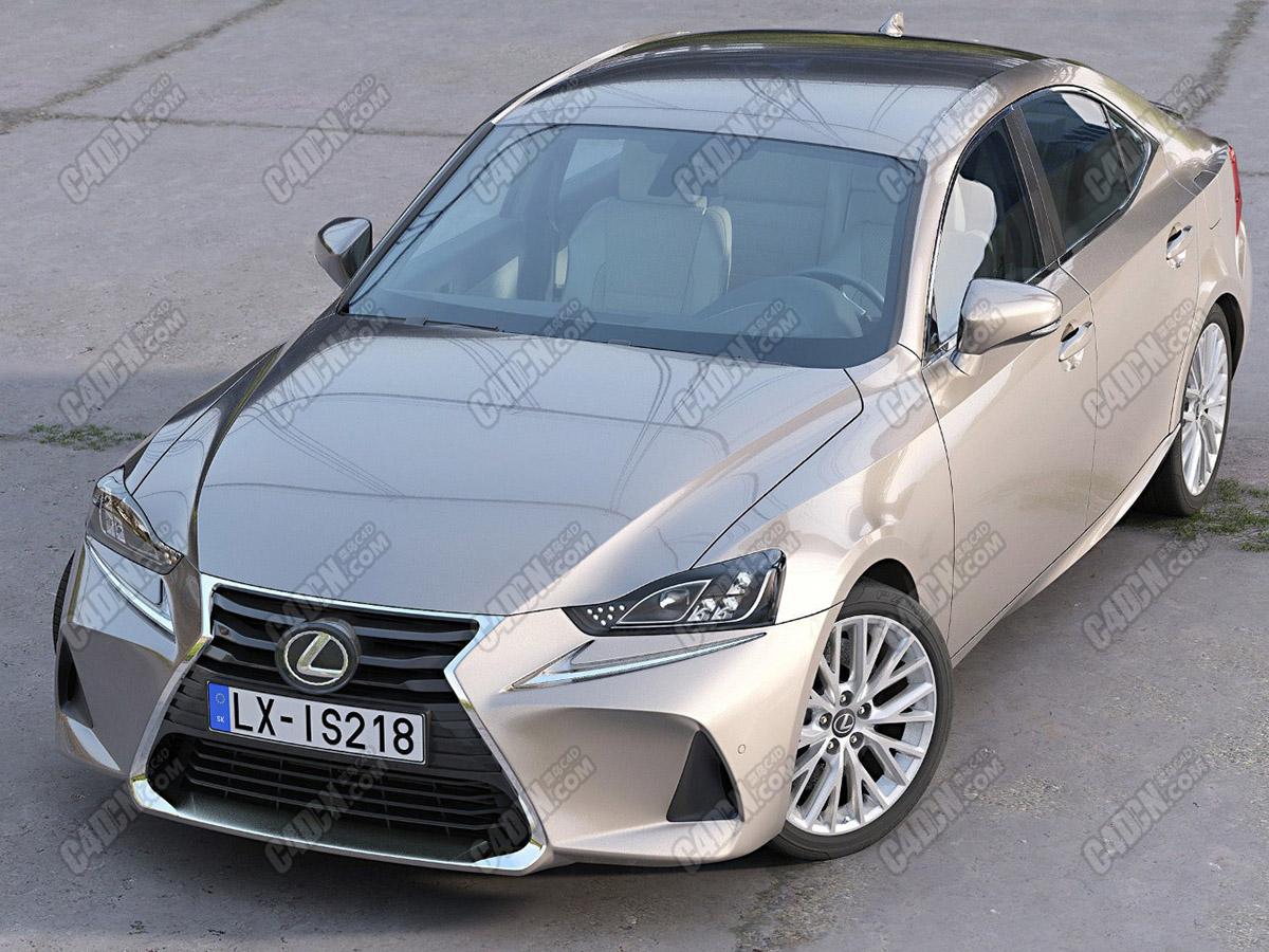 雷克萨斯IS2018款豪华汽车C4D模型 Lexus IS 2018 Model Files