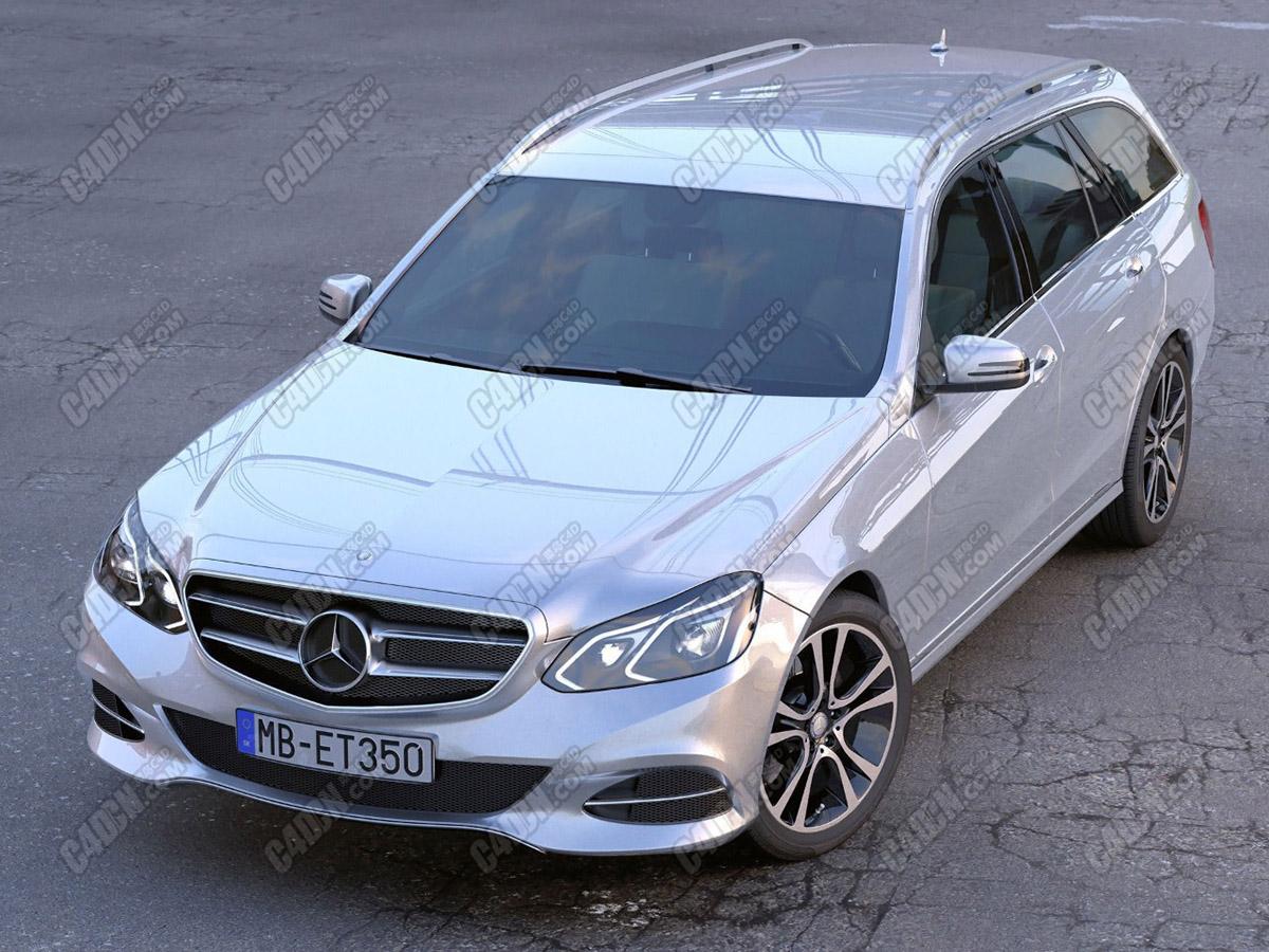 奔驰豪华汽车两厢版Eclass汽车C4D模型 Mercedes Benz E class T model 201