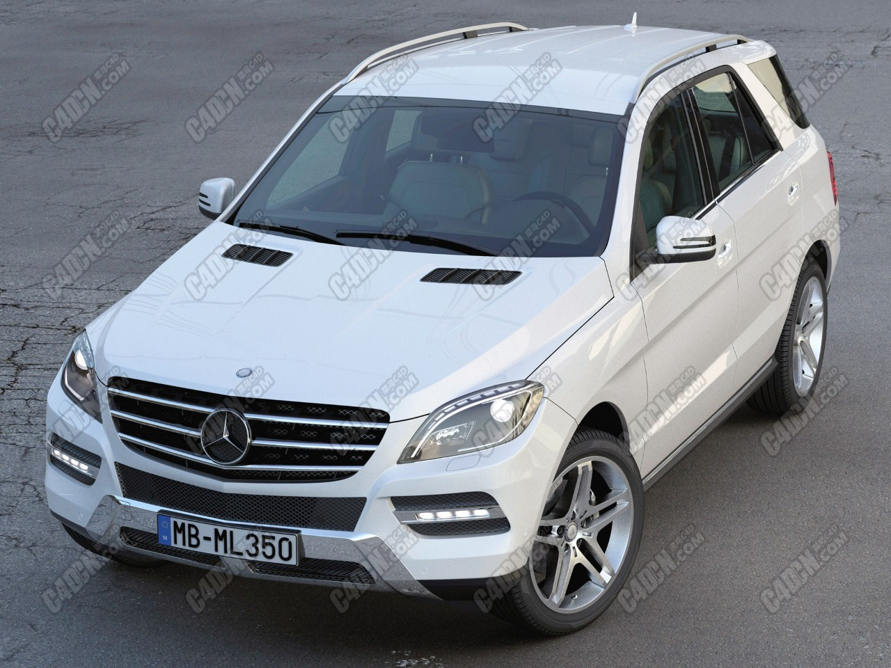 梅赛德斯ML奔驰汽车C4D模型 Mercedes Benz ML Class 2013 Model Files