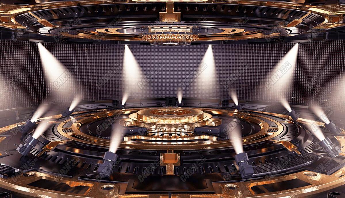 C4D精品华丽舞台场景设计舞美工程模型