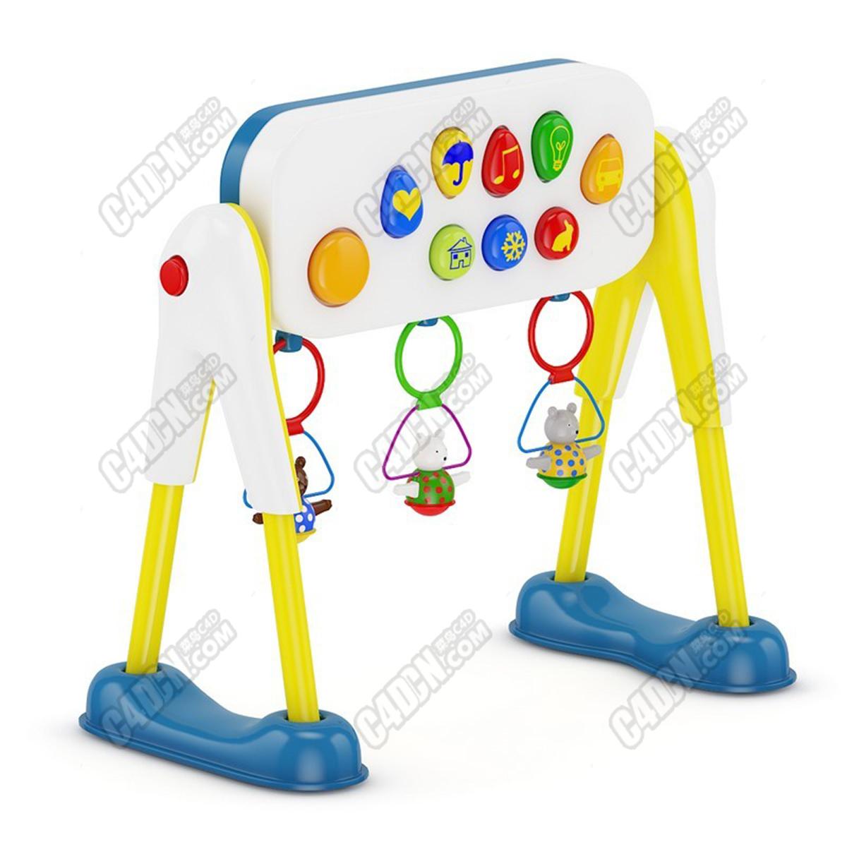 C4D幼兒園小熊益智智力開發兒童玩具模型 A toy model for children's intelligence development in C4d kindergarten