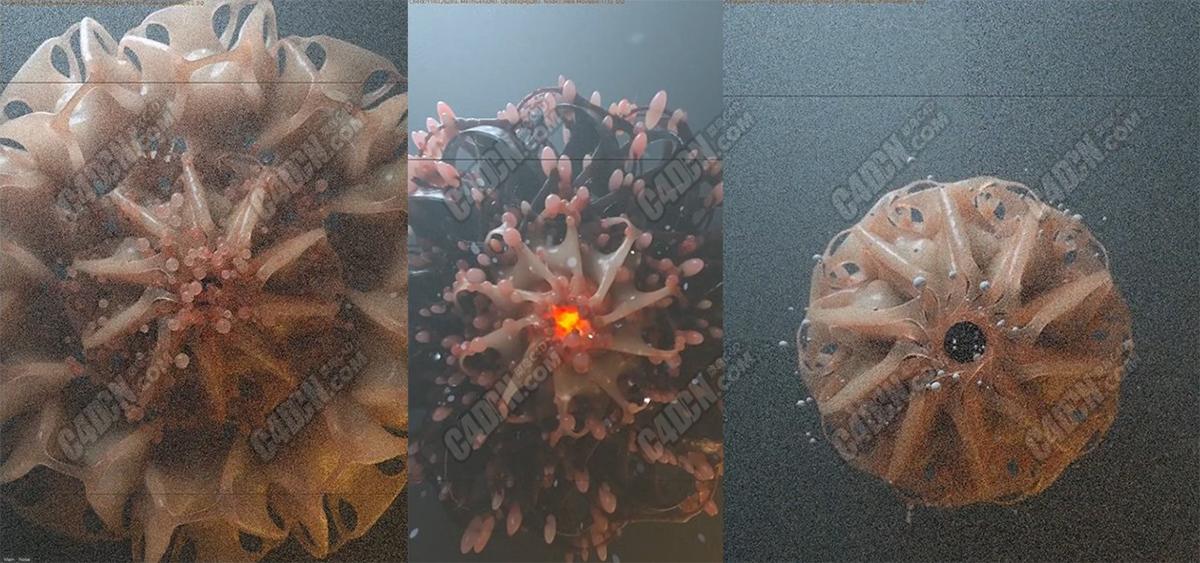 C4D软件Octane渲染器制作晶莹剔透的科幻细胞次表面散射材质建模渲染教程 Cinema 4D & Octane Tutorial