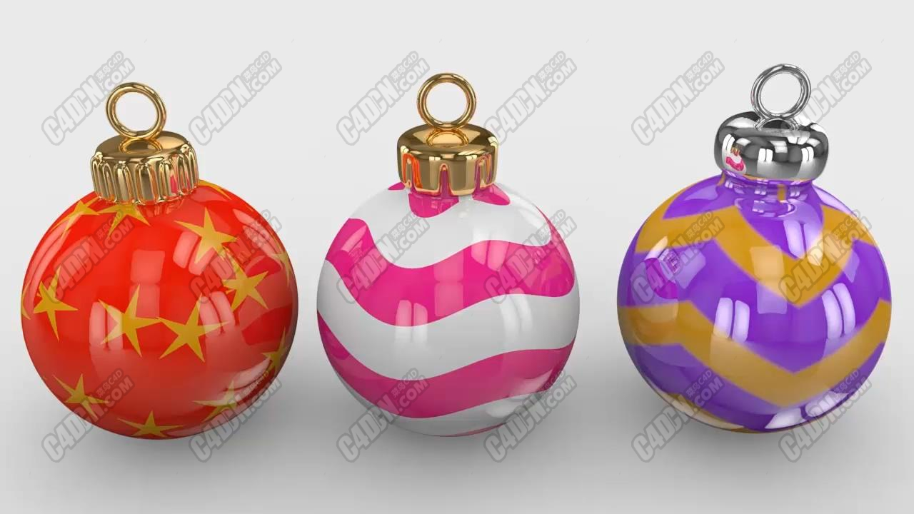 C4D制作圣诞节日小彩球建模渲染教程 Professional Christmas Spheres Cinema 4D Tutorial