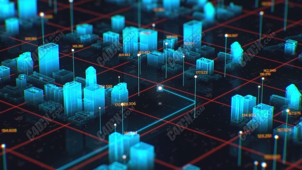 AE合成從零開始的INSANE全息城市地圖欄目包裝C4D教程