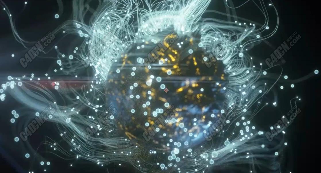XP粒子制作漂亮的粒子拖尾Octane渲染器C4D教程