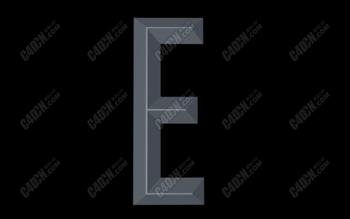 C4D制作锥体文字凸体字英文字母建模布线C4D教程 How to Make Chiseled Text in AI Cinema 4D