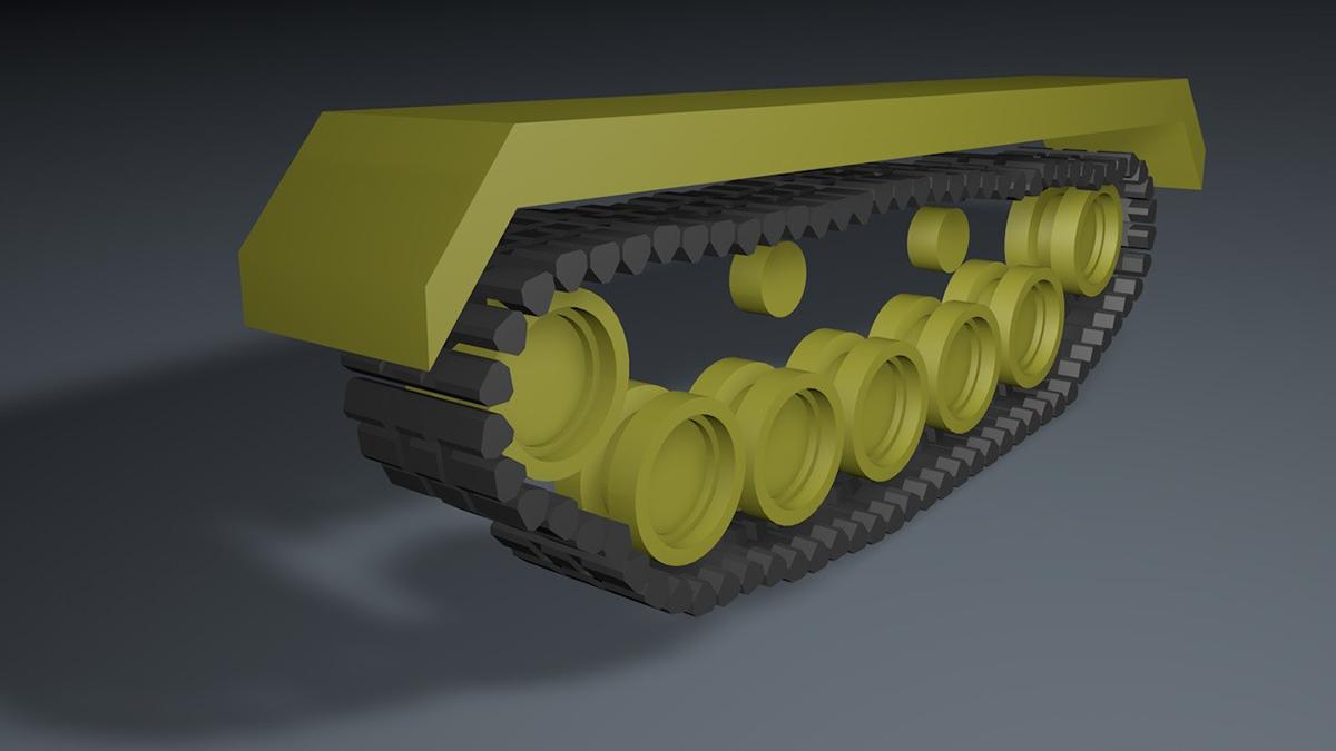 坦克履帶懸掛綁定