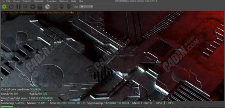 Octane渲染器JSplacement和Cinema 4D创建非常酷的电路板置换C4D教程