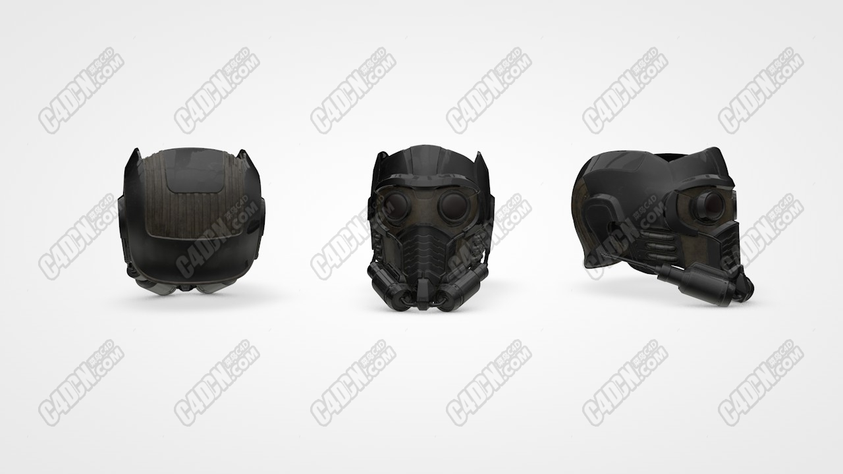 C4D模型-星爵面具 Star-Lord Mask