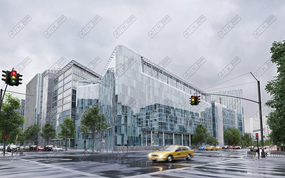 C4D模型-60组现代建筑大厦楼盘大楼模型合集素材