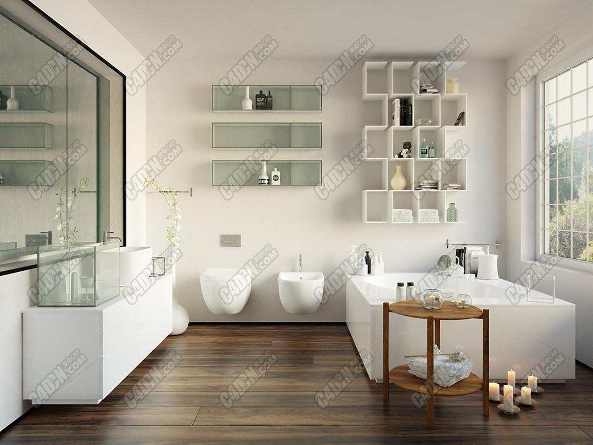 48个浴室柜梳妆台洗手池室内3D模型合集包含材质贴图