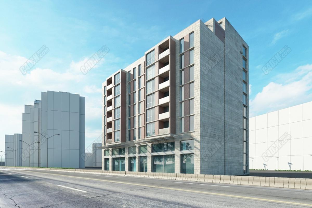 C4D模型-办公楼楼房模型 Office building model