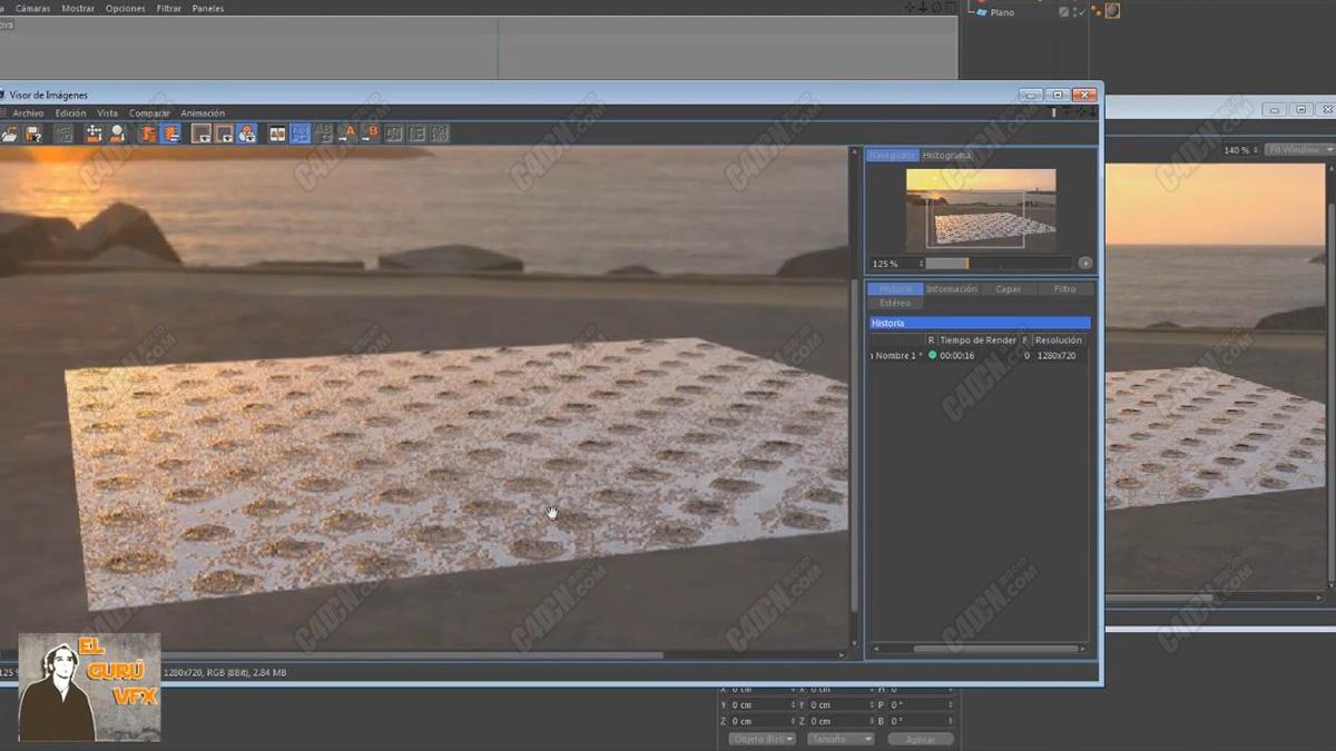 C4D教程-Redshift渲染器材质凹凸教程