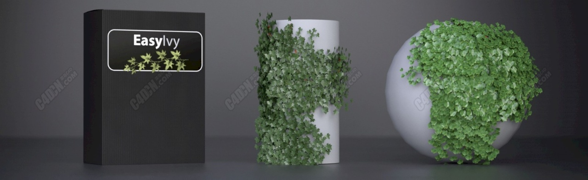 C4D插件-常春藤爬藤植物生成插件 Easy Ivy 1.0.1