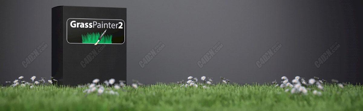C4D插件-花草植物插件 Grass Painter 2.1.1