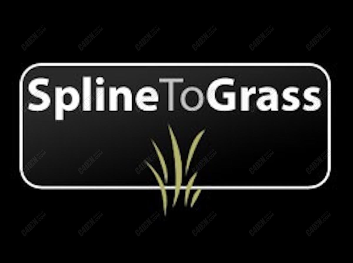 C4D插件-植物草地草叶制作插件 Spline To Grass 1.0