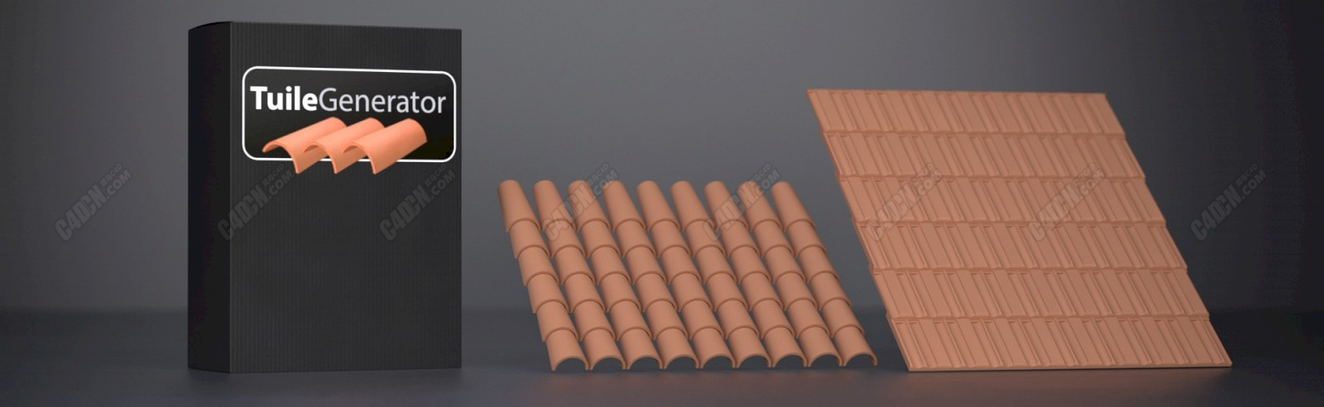 C4D插件-屋顶瓦块制作插件 Tuile Generator 2.0.10