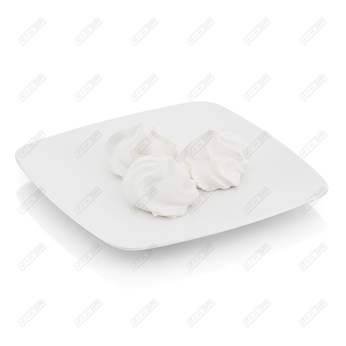 C4D模型-三块奶油冰淇淋甜品拌料(包含材质和贴图) Ice cream dessert