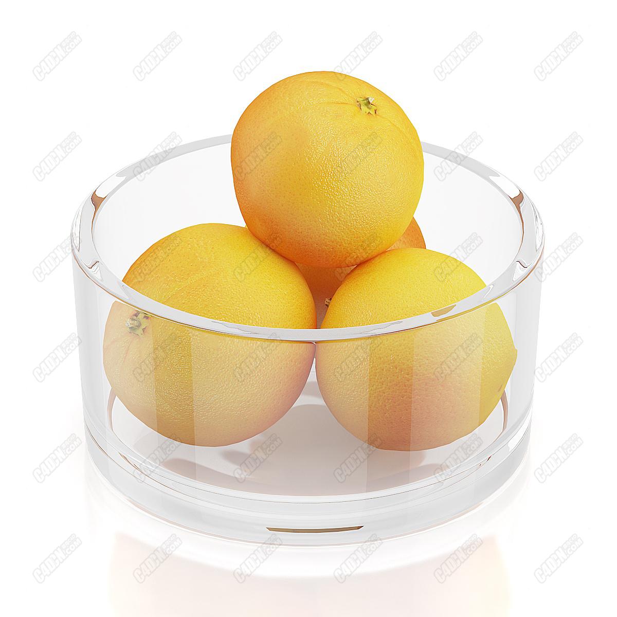 C4D模型-味道甜美的黄皮大橙子水果零食(包含材质和贴图)