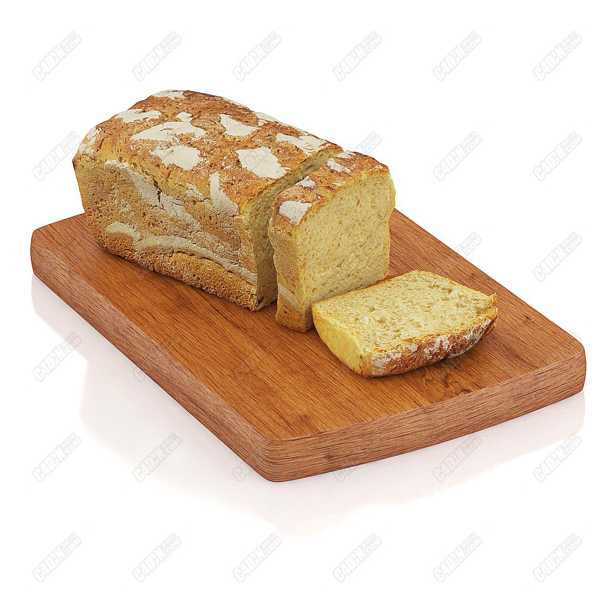 C4D模型-切片面包模型(包含材質和貼圖) Sliced bread model