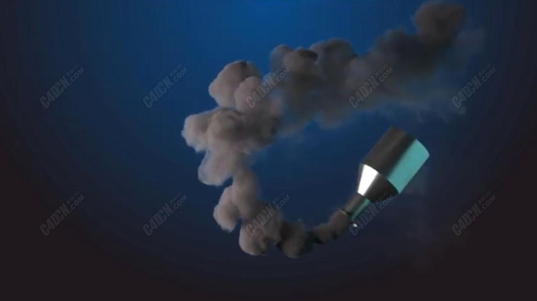 FumeFX插件流体烟雾生成模拟C4D教程