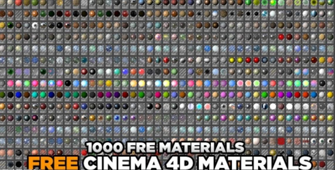 C4D材质下载-1000套材质球超大合集 1000 C4D shaders