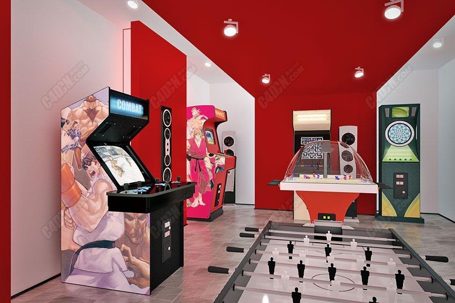 游戏厅游乐场娱乐设备3D模型合集 Archmodels vol. 47