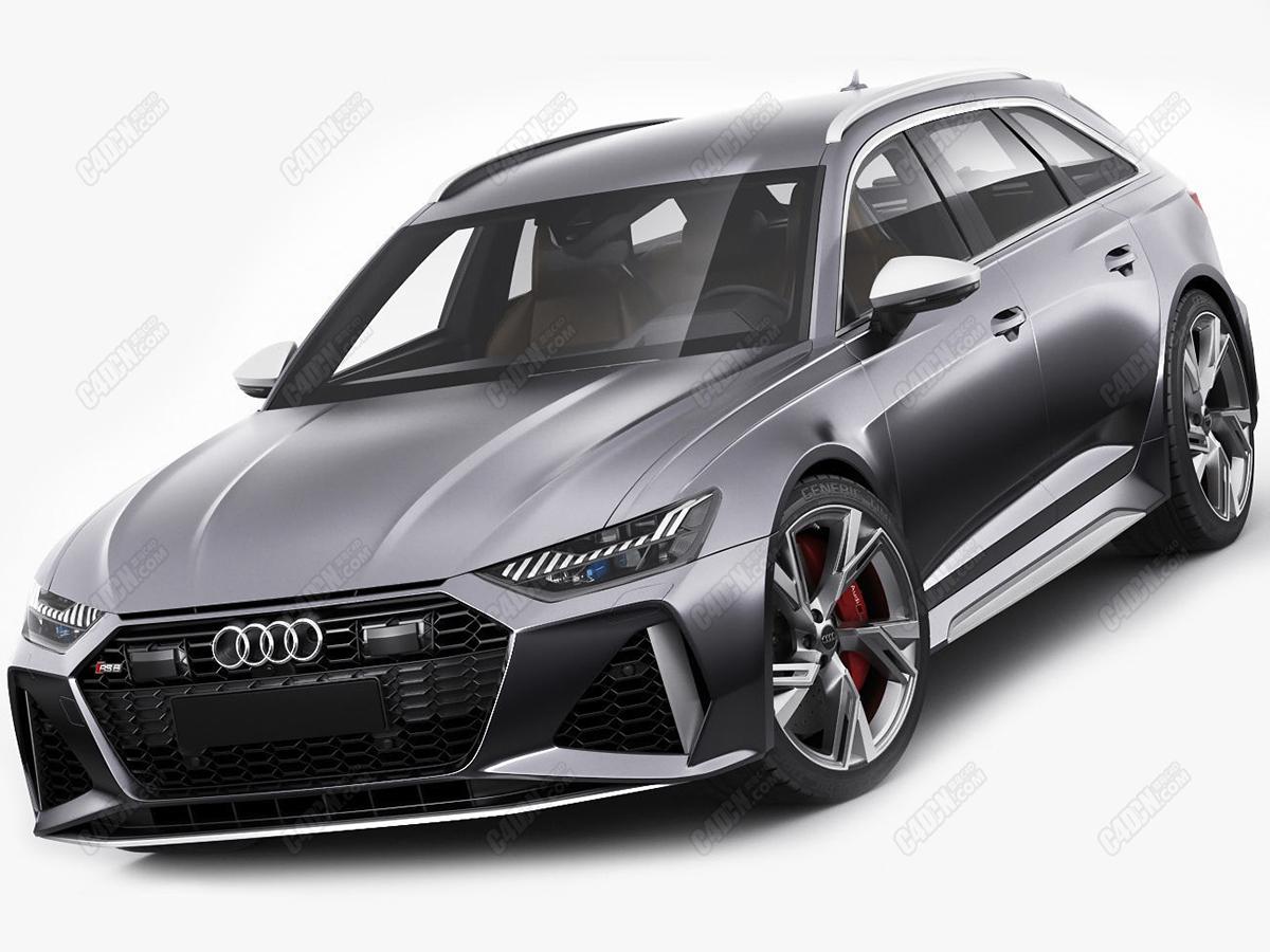 C4D汽车模型-奥迪RS6跑车模型 Audi RS6 avant 2020 C4D model