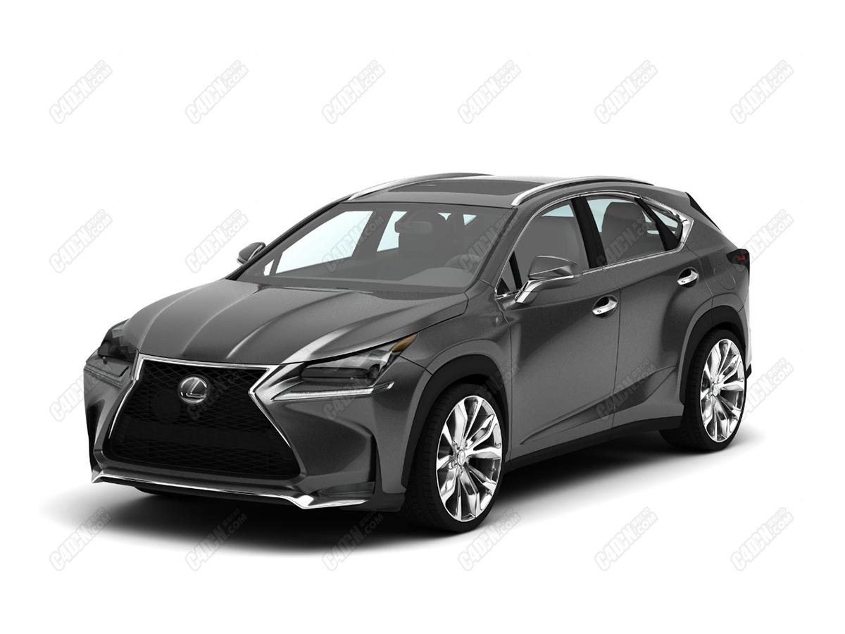 C4D汽车模型-雷克萨斯豪华SUV越野车模型 Lexus NX 200 turbo with 19 inch alloy wheels