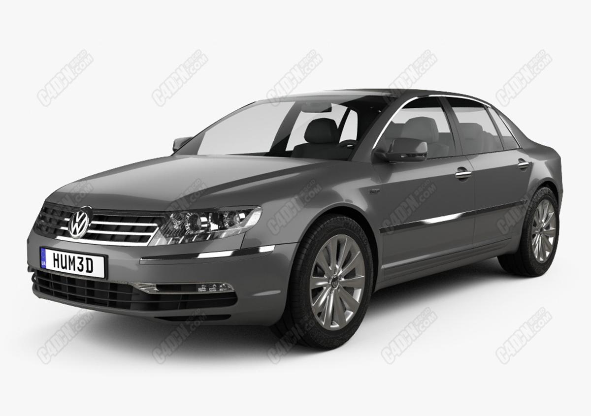 大众辉腾豪华汽车模型 Volkswagen Phaeton 2011 3D Model MAX