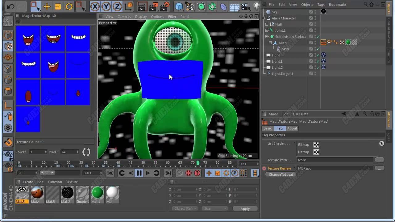 C4D超级纹理贴图插件汉化版 汉化版Magic TextureMap