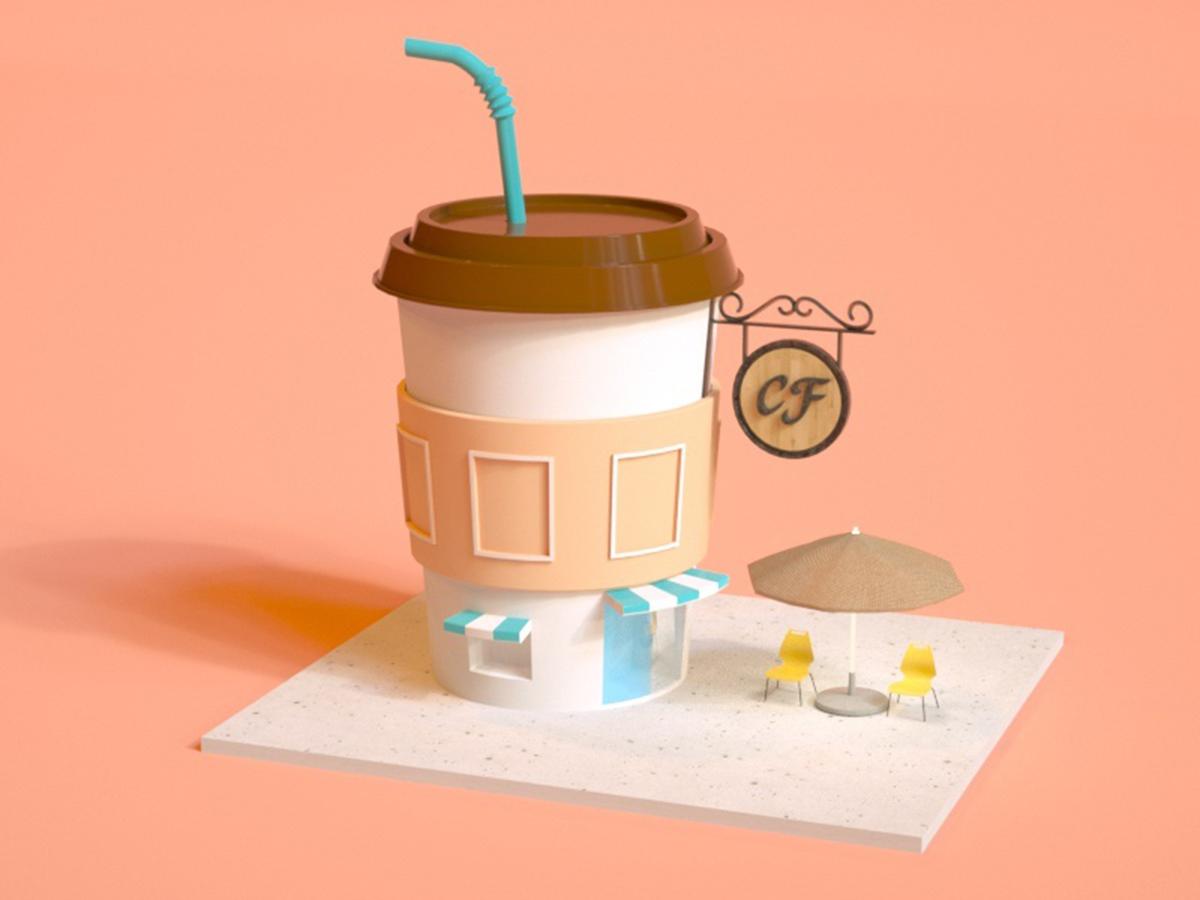 咖啡小楼小场景