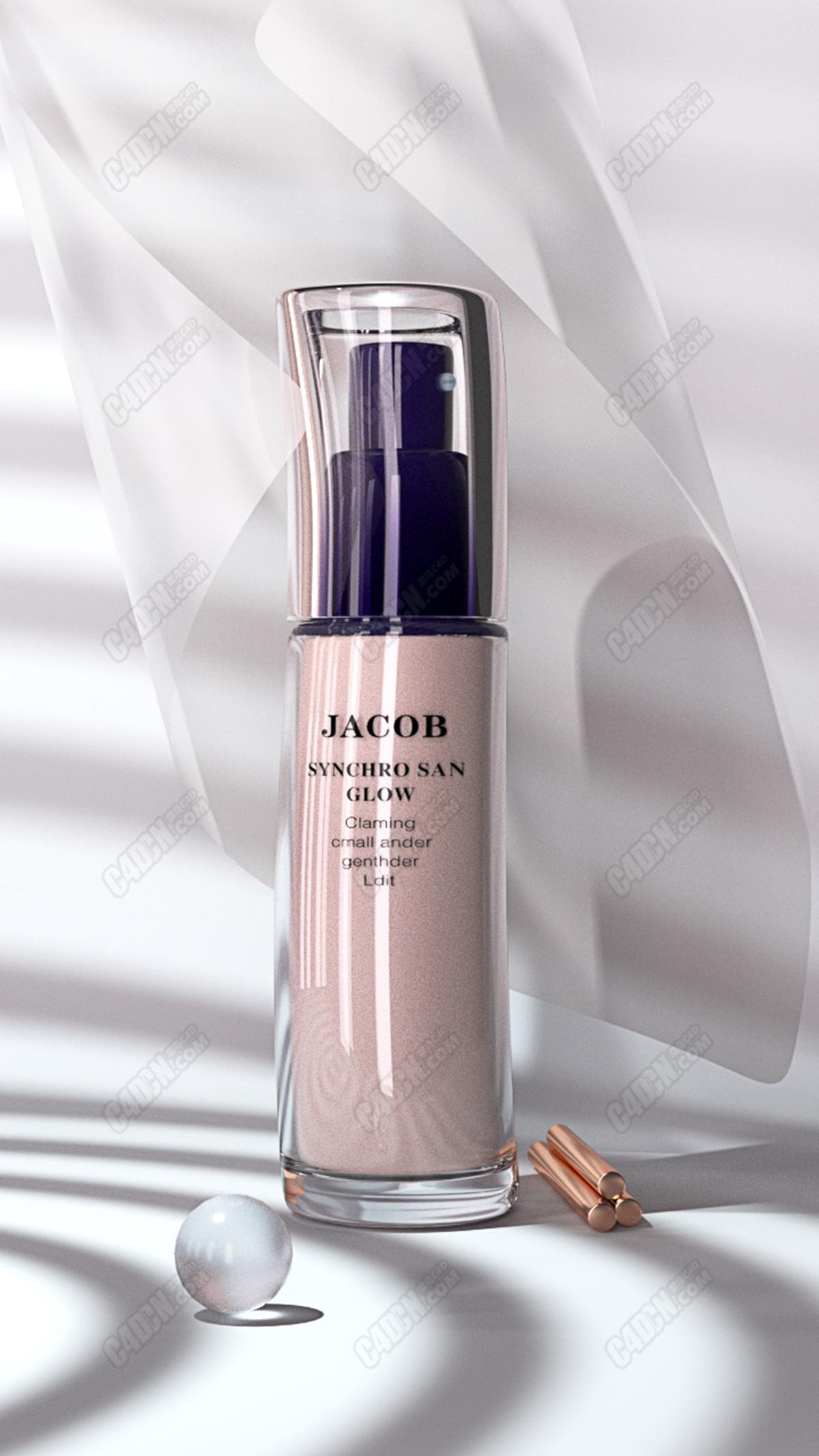 化妆品瓶子渲染