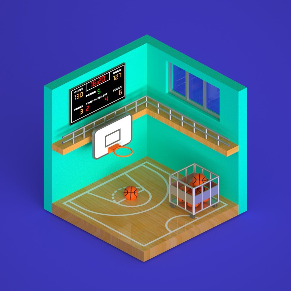 篮球场小景