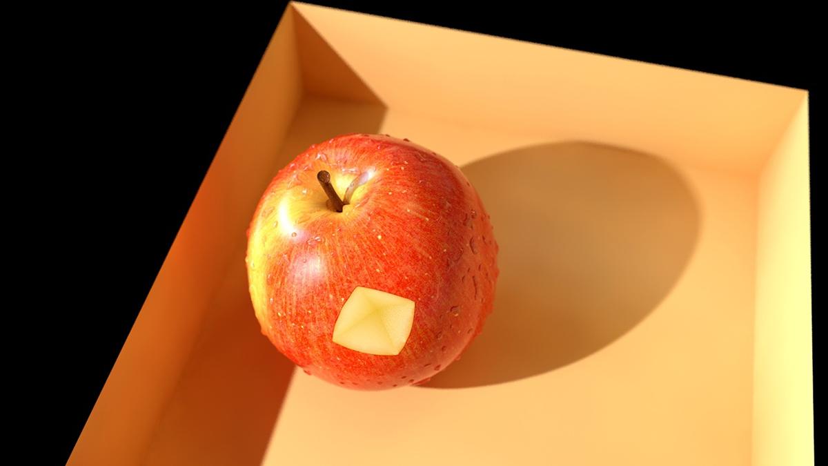 中午吃了个苹果 于是...
