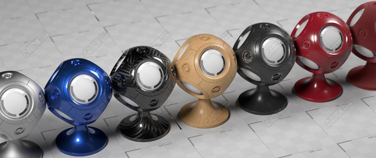 免费Octane高级材质球自行复制链接下载