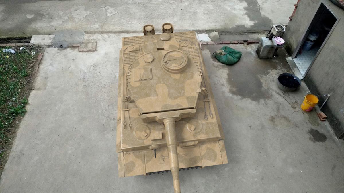做微商一个月 喜提虎式坦克一辆