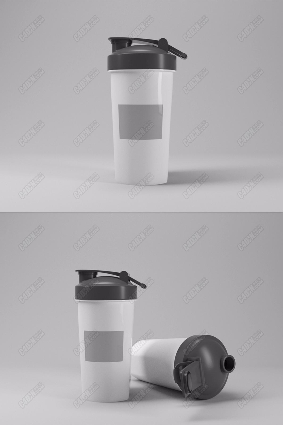 乐扣水杯产品水杯模型C4D(OC)