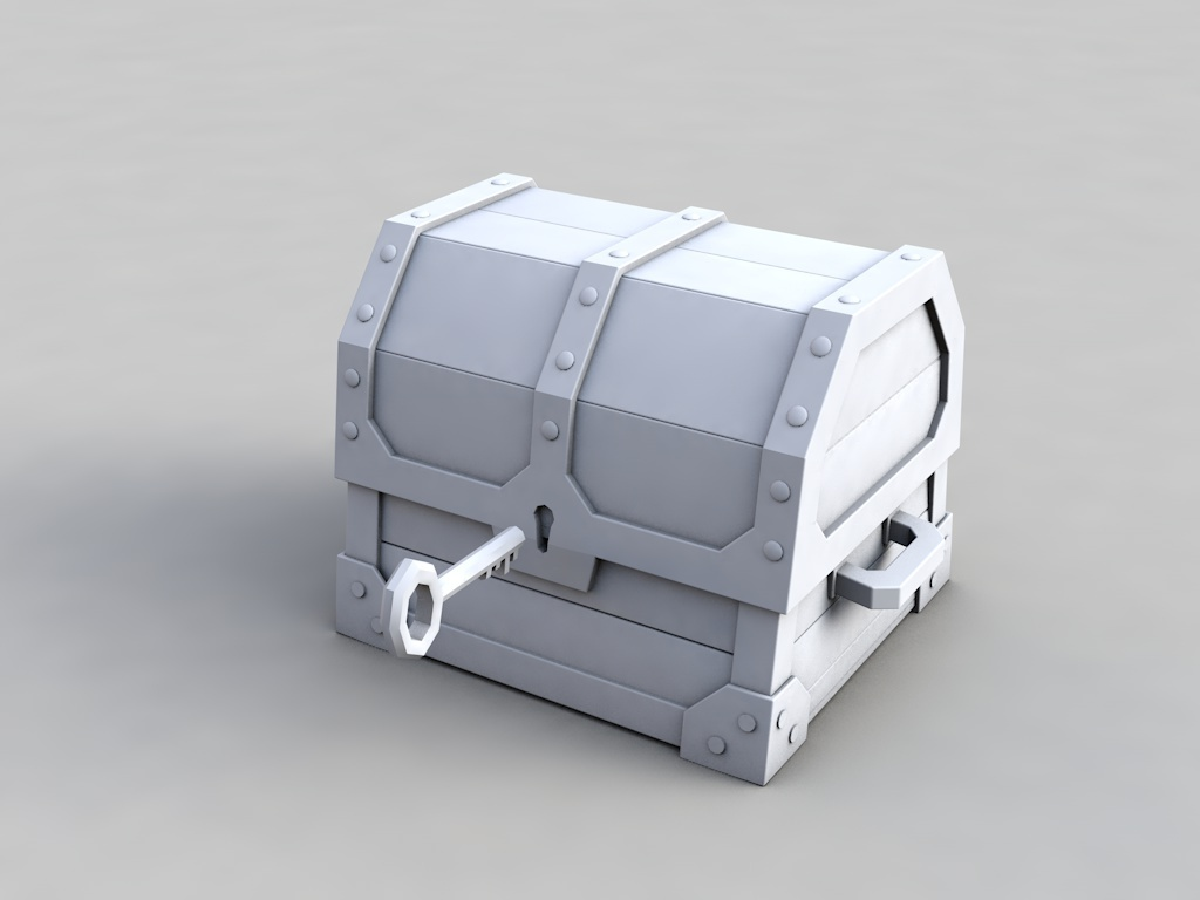 低多边形宝箱动画 含教程