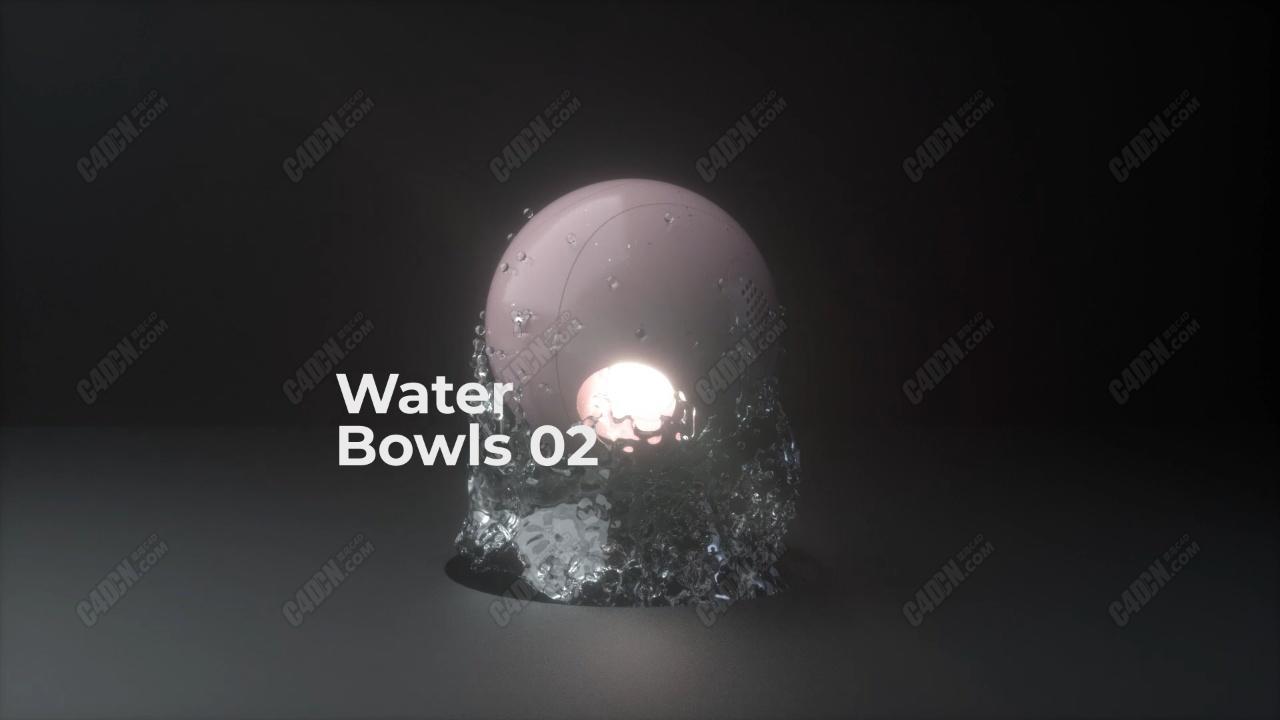 动力学OC渲染器水花滚动球体四溅精品C4D工程