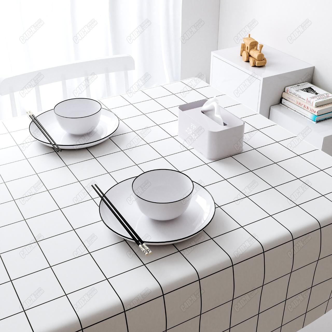 简单的餐桌室内工程