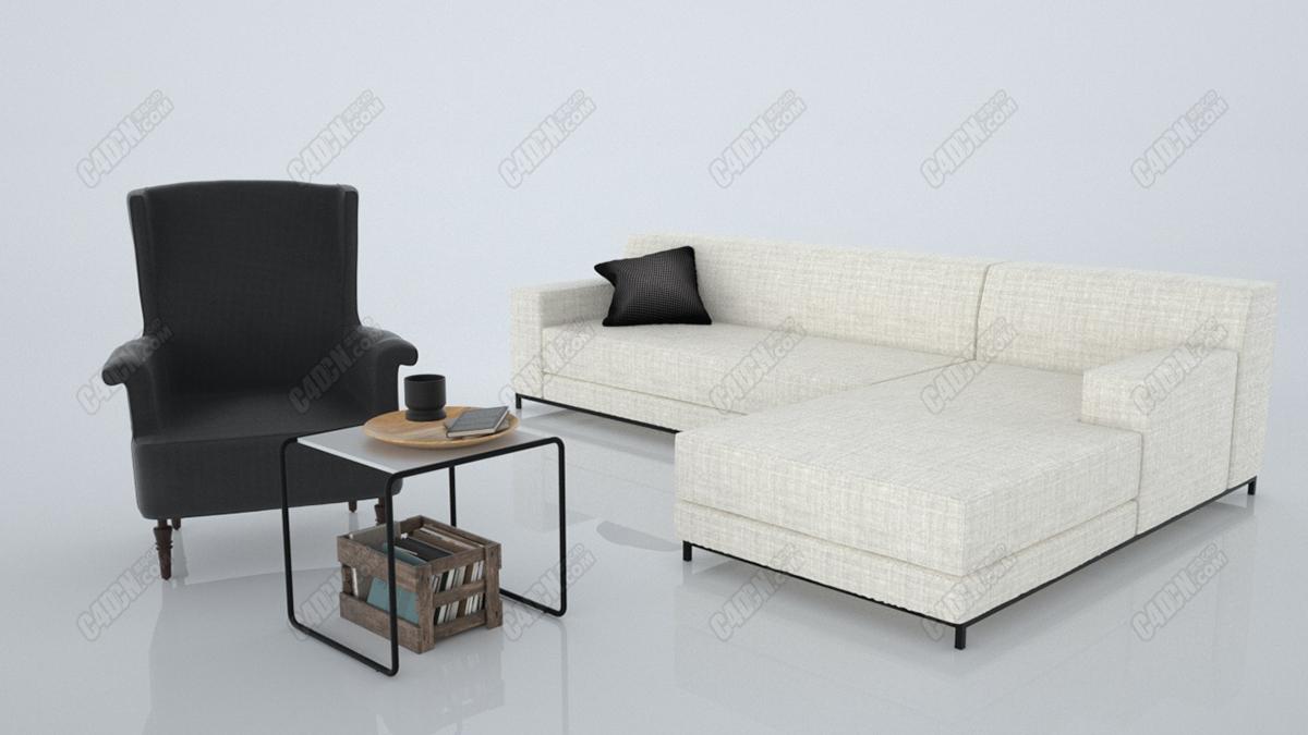 沙发桌子模型