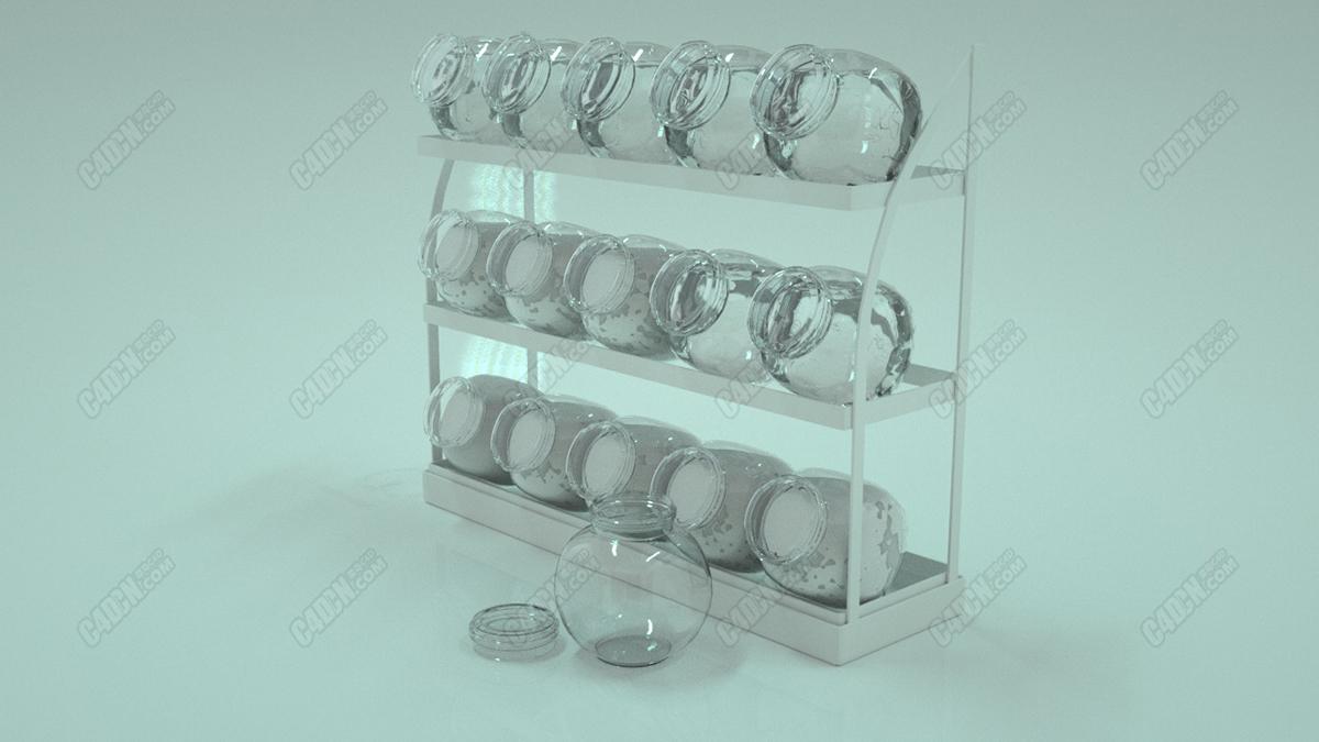 玻璃罐模型
