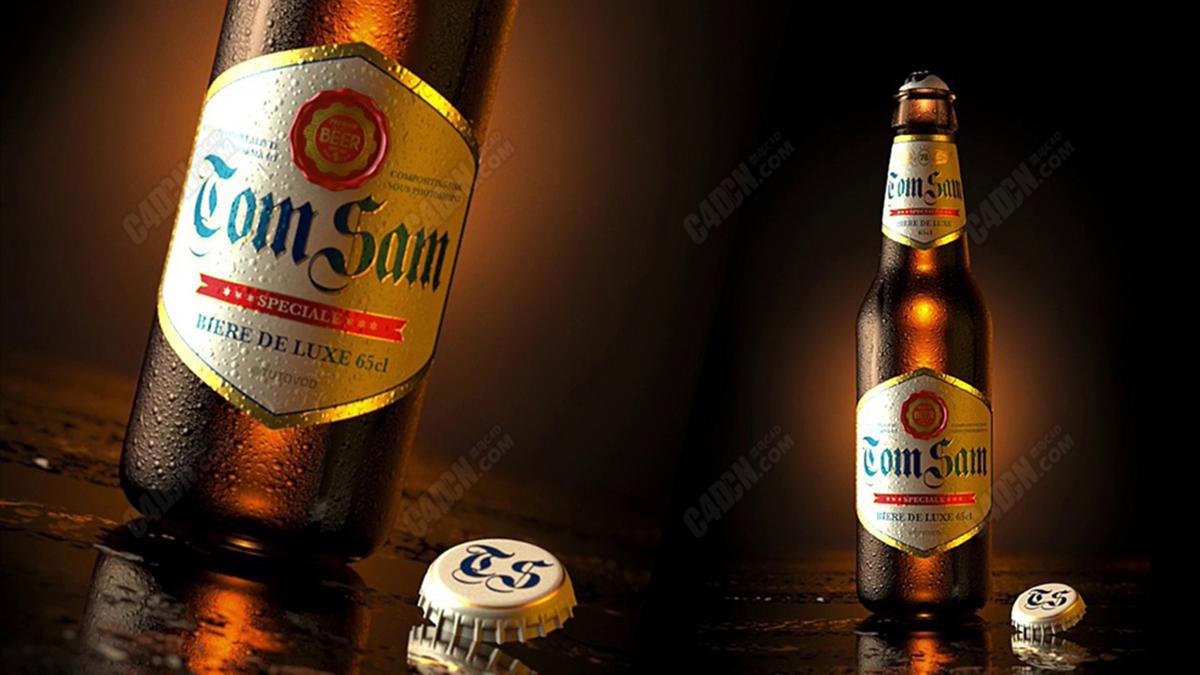 C4D冰镇啤酒产品表现精品案例C4D教程[含工程]