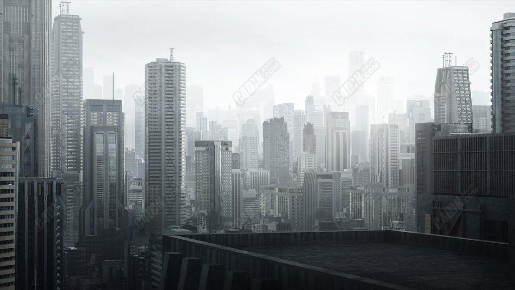 日本东京现代城市建筑群三维模型合集