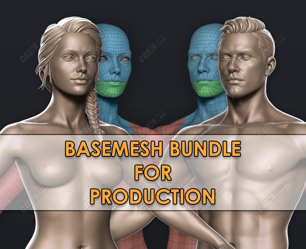 C4D基础人体布线三维模型