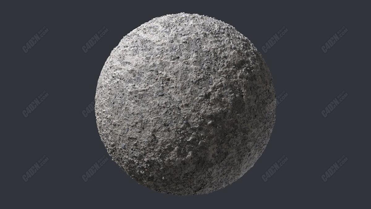 粗糙混凝土C4D材质下载